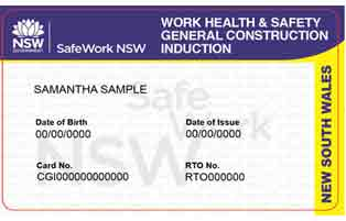New South Wales White Card
